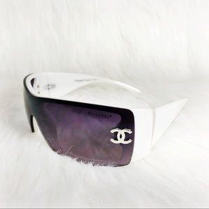 CHANEL Vintage Y2K Tinted Lens Logo Sunglasses